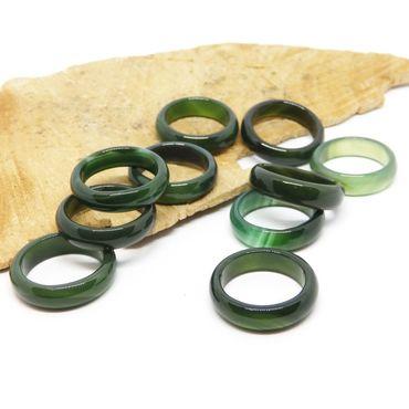 Decorations handmade. Livemaster - original item Ring dark green chalcedony 17.5 size Forest grass. Handmade.