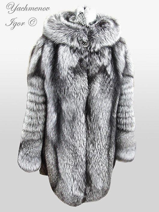 Верхняя одежда ручной работы. Ярмарка Мастеров - ручная работа. Купить Шуба из серебристой лисы.. Handmade. Шуба, лиса