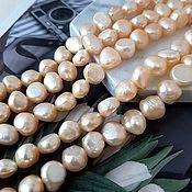 Материалы для творчества handmade. Livemaster - original item 10 PCs. Natural free-form pearls approx. 7-10 mm AA peach (4606). Handmade.