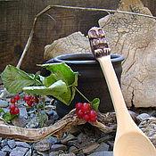 """Ложки ручной работы. Ярмарка Мастеров - ручная работа ложка кедровая """"СОВА"""". Handmade."""