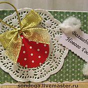Открытки ручной работы. Ярмарка Мастеров - ручная работа Новогодний шарик. Handmade.