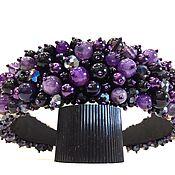 Украшения handmade. Livemaster - original item Rim of beads and stones agate Amethyst. Handmade.