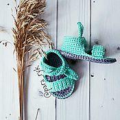 Работы для детей, ручной работы. Ярмарка Мастеров - ручная работа Пинетки - сандалики. Handmade.