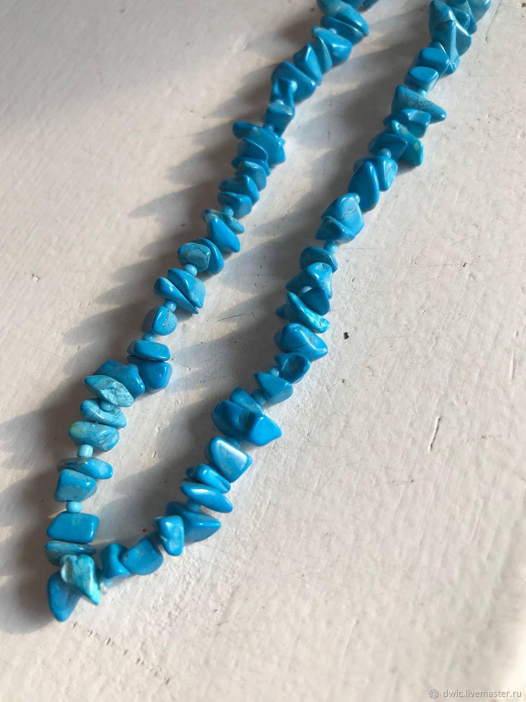Vintage: Natural turquoise beads, Afghanistan, Vintage necklace, Arnhem,  Фото №1