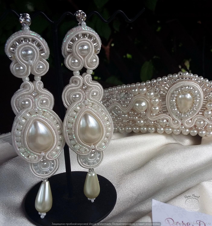 094db9cbd Buy Wedding long soutache earrings from the collection · Wedding Jewelry  handmade. Wedding long soutache earrings from the collection 'Russian  beauty'.