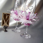 Свадебный салон handmade. Livemaster - original item Wedding champagne glasses