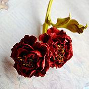 Украшения ручной работы. Ярмарка Мастеров - ручная работа Цветы из кожи Брошь Мария. Handmade.