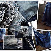 Одежда handmade. Livemaster - original item Denim skirt boho long. Handmade.