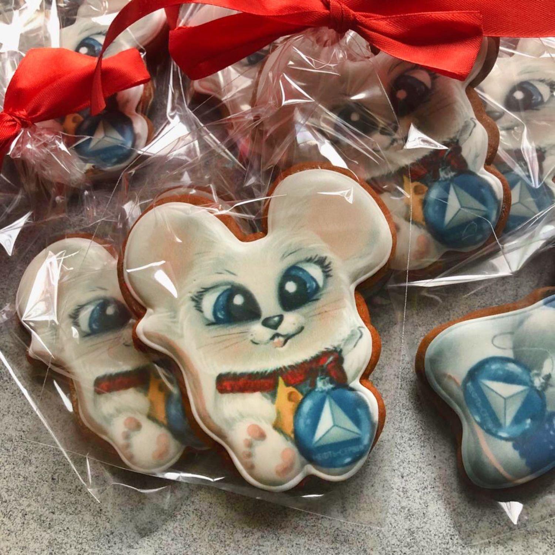 Новогодние мышки 2020. Корпоративный подарок с логотипом, Пряники, Москва,  Фото №1