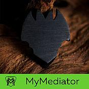 Музыкальные инструменты handmade. Livemaster - original item The mediator from the wood of Hornbeam Black: Evil Bat. Handmade.