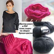 Материалы для творчества handmade. Livemaster - original item Master class on knitting pullover Mystery. Handmade.