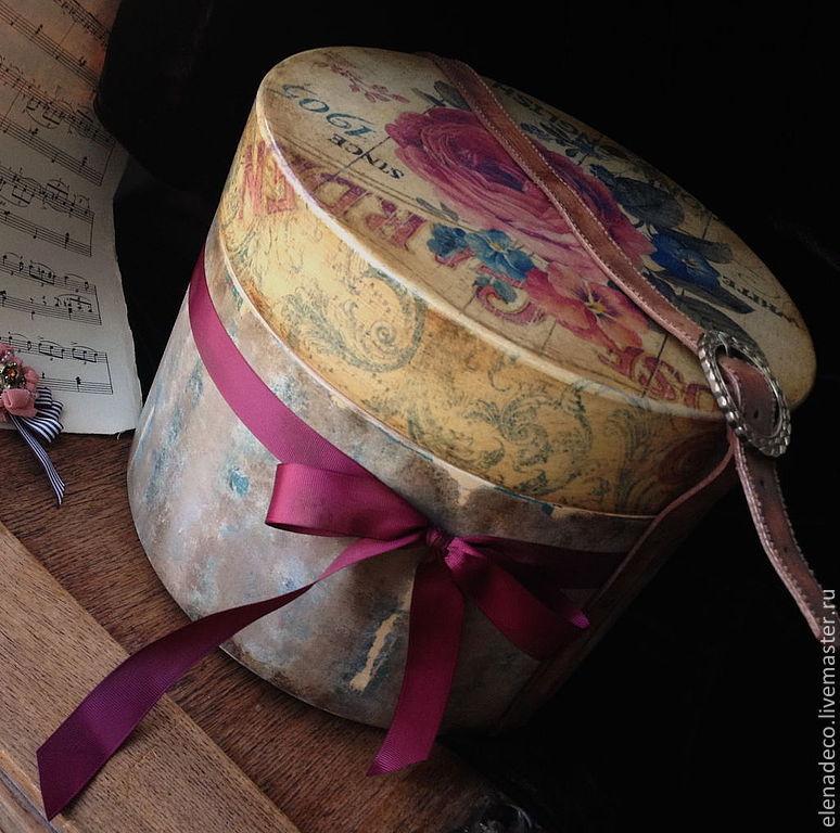 Шляпная коробка для цветов купить - 1b377