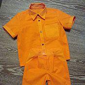 Одежда ручной работы. Ярмарка Мастеров - ручная работа Хлопковый костюм для мальчика. Handmade.