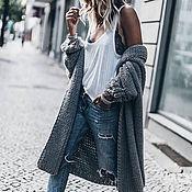 Одежда handmade. Livemaster - original item Grey women`s cardigan. Handmade.