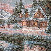 Картины и панно handmade. Livemaster - original item Forest Lodge (cross stitch). Handmade.