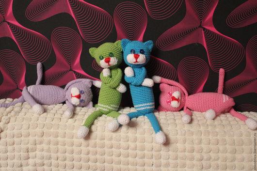 Игрушки животные, ручной работы. Ярмарка Мастеров - ручная работа. Купить кошки. Handmade. Брусничный