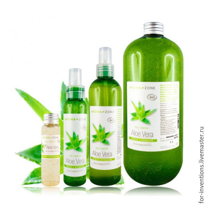 Gel Aloe Vera 100 ml (Aloe vera Aroma zone), Components for cosmetics, Moscow,  Фото №1