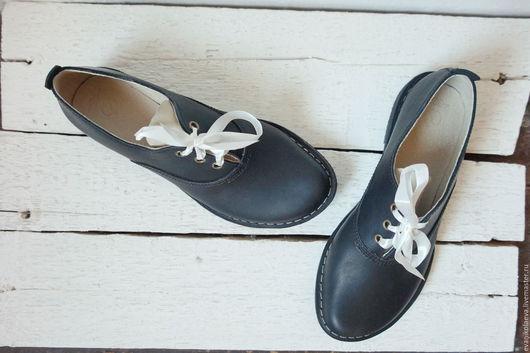 Обувь ручной работы. Ярмарка Мастеров - ручная работа. Купить Ботиночки №1. Handmade. Черный, ботинки из кожи, туфли