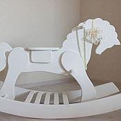 Для дома и интерьера handmade. Livemaster - original item Toy horse rocking chair solid cedar White night. Handmade.