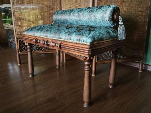 Мебель ручной работы. Ярмарка Мастеров - ручная работа. Купить Банкетка ручной работы с подушкой. Handmade. Коричневый, дерево, интерьер