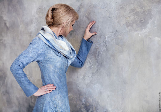 """Платья ручной работы. Ярмарка Мастеров - ручная работа. Купить Платье """" Немного солнца в холодной воде"""". Handmade. Голубой"""