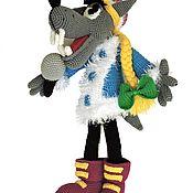 """Куклы и игрушки ручной работы. Ярмарка Мастеров - ручная работа Герой мультфильма """"Ну, погоди"""" Волк в костюме Деда Мороза. Handmade."""