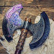 Сувениры и подарки handmade. Livemaster - original item Forged Damascus Axe Yggdrasil handmade. Handmade.