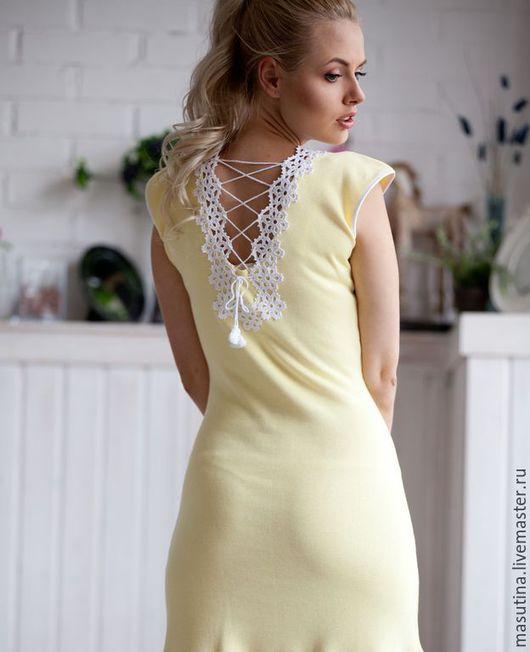 """Платья ручной работы. Ярмарка Мастеров - ручная работа. Купить Платье """"Солнце на ладони"""". Handmade. Лимонный, желтое платье, вискоза"""