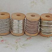 Тесьмы ручной работы. Ярмарка Мастеров - ручная работа Антикварная металлизированная тесьма нити Франция, цена за 20 см. Handmade.