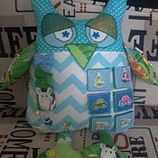 Куклы и игрушки ручной работы. Ярмарка Мастеров - ручная работа сова-развивающая игрушка. Handmade.