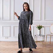 Одежда handmade. Livemaster - original item Boho Maxi Dress Tiered Floral Black. Handmade.