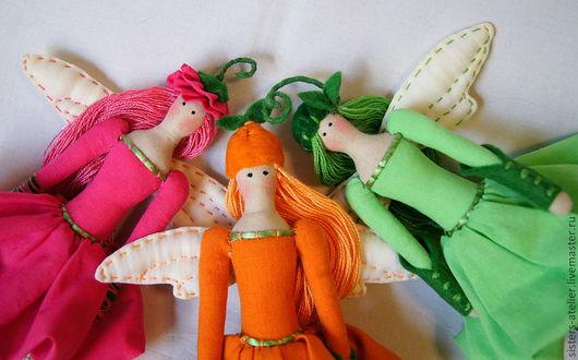 Куклы Тильды ручной работы. Ярмарка Мастеров - ручная работа. Купить кукла в стиле Тильда Фея летнего сада. Handmade.