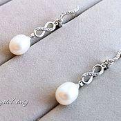 Свадебный салон handmade. Livemaster - original item Earrings for bride. Handmade.