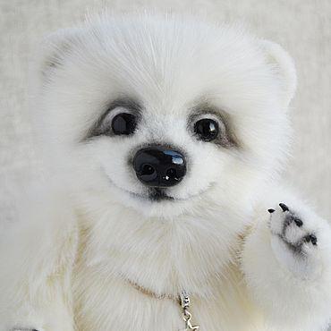 Куклы и игрушки ручной работы. Ярмарка Мастеров - ручная работа Мишки Тедди: Белый медвежонок Облачко. Handmade.