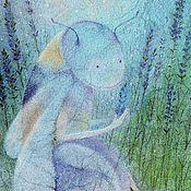 Картины и панно ручной работы. Ярмарка Мастеров - ручная работа Лавандовый шмель...Картина-принт на холсте.. Handmade.