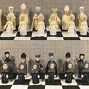 Активный отдых и развлечения handmade. Livemaster - original item Folding board chess set. Handmade.