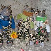 Куклы и игрушки ручной работы. Ярмарка Мастеров - ручная работа Котики -рыбаки!. Handmade.