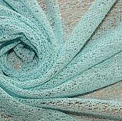 Материалы для творчества ручной работы. Ярмарка Мастеров - ручная работа Трикотаж-паутинка,цвет нежно-голубой  с серебринкой 850руб-м. Handmade.