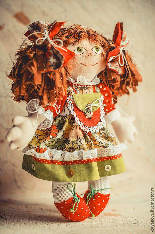 Коллекционные куклы ручной работы. Ярмарка Мастеров - ручная работа. Купить Варюша. Handmade. Ярко-красный, девочка, декоративные элементы