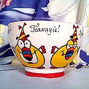 """Посуда ручной работы. Ярмарка Мастеров - ручная работа Салатник """"ПятниZZа!"""" Пиала керамическая. Недорогой подарок. Handmade."""