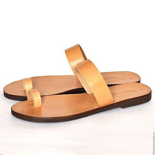 Обувь ручной работы. Ярмарка Мастеров - ручная работа. Купить Кожаные сандалии с пальчиком. Handmade. Сандалии, женские сандалии