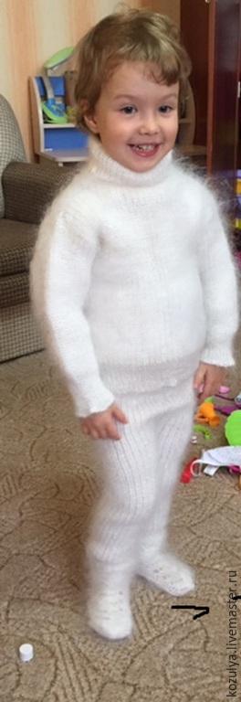 Детская одежда ручной работы.Комплект пуховый,вязанный.`Пуховое царство` от Татьяны.Ярмарка мастеров.