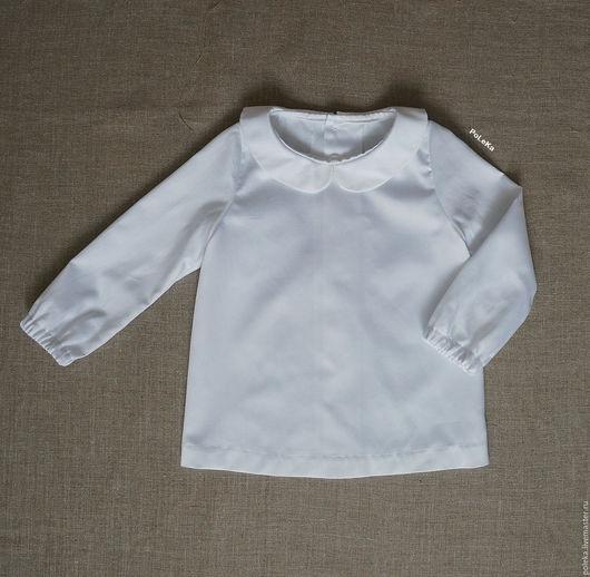 Одежда для девочек, ручной работы. Ярмарка Мастеров - ручная работа. Купить Блузка для девочки с воротничком. Handmade. Платье для малышки, однотонный