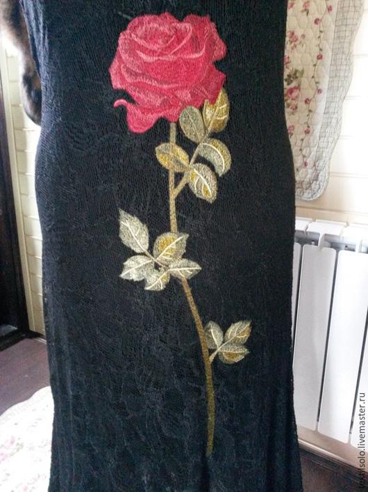 Платья ручной работы. Ярмарка Мастеров - ручная работа. Купить вышивка на крое. Handmade. Черный, хлопок