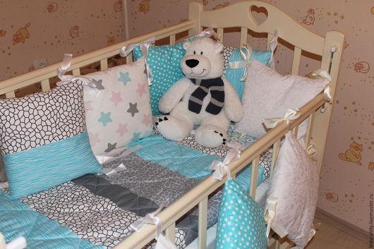 Детская ручной работы. Ярмарка Мастеров - ручная работа. Купить Комплект для новорожденных в кроватку Мечта. Handmade. Комплект, мальчику