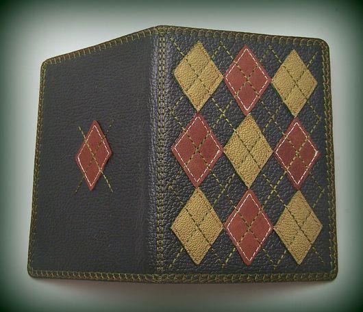 Обложки ручной работы. Ярмарка Мастеров - ручная работа. Купить Обложка для паспорта кожа с вышивкой Casual man. Handmade.