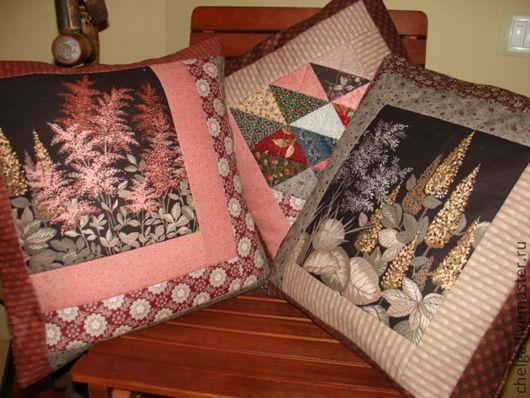 """Текстиль, ковры ручной работы. Ярмарка Мастеров - ручная работа. Купить Декоративные интерьерные подушки """"Уснувший сад"""". Handmade."""