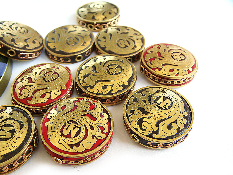 Бусины Индонезия глина монеты с литыми пластинами в ассортименте, Бусины, Брянск,  Фото №1