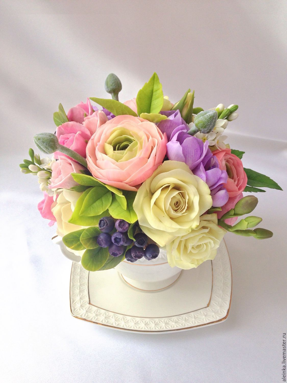 Fleur цветы из холодного фарфора
