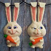 Украшения ручной работы. Ярмарка Мастеров - ручная работа Кролик Снежок. Handmade.